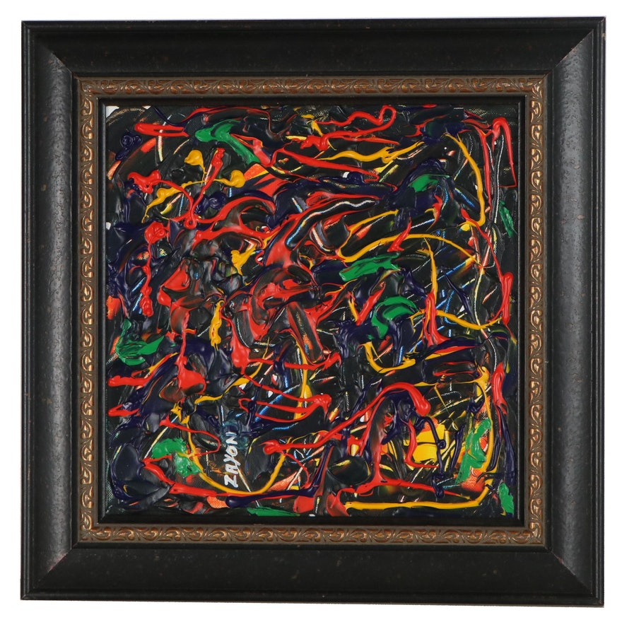 Seymour Zayon Abstract Acrylic Painting