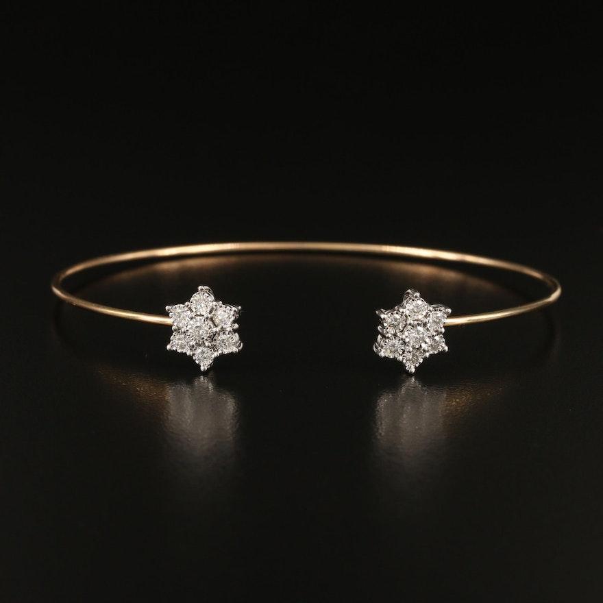 10K Diamond Cuff