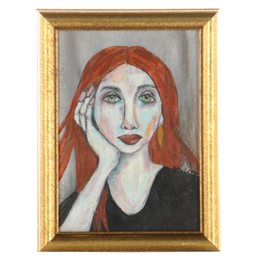 Deborah McEvoy Acrylic Painting Portrait
