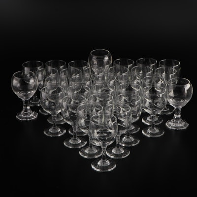 Glass Wine Glasses, Mid to Late 20th Century