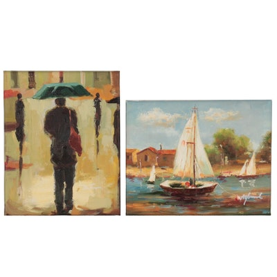 Nautical and Figurative Oil Paintings