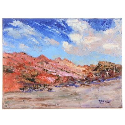 "James Baldoumas Oil Painting ""Dry Seabed,"" 2021"