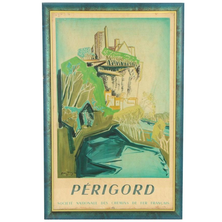 """Société Nationale des Chemins de fer Français Lithograph Poster """"Périgord"""""""