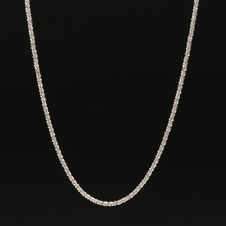 14K Italian Sparkle Chain Necklace