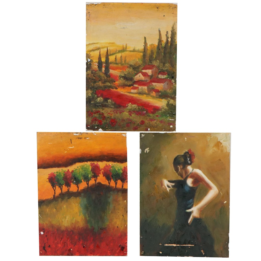 Tuscan Landscapes and Figurative Oil Paintings