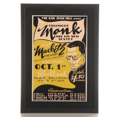 Thelonious Monk Giclée Concert Poster, 21st Century