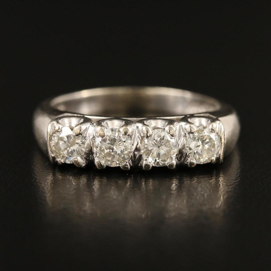 Vintage 14K Four Stone Diamond Ring