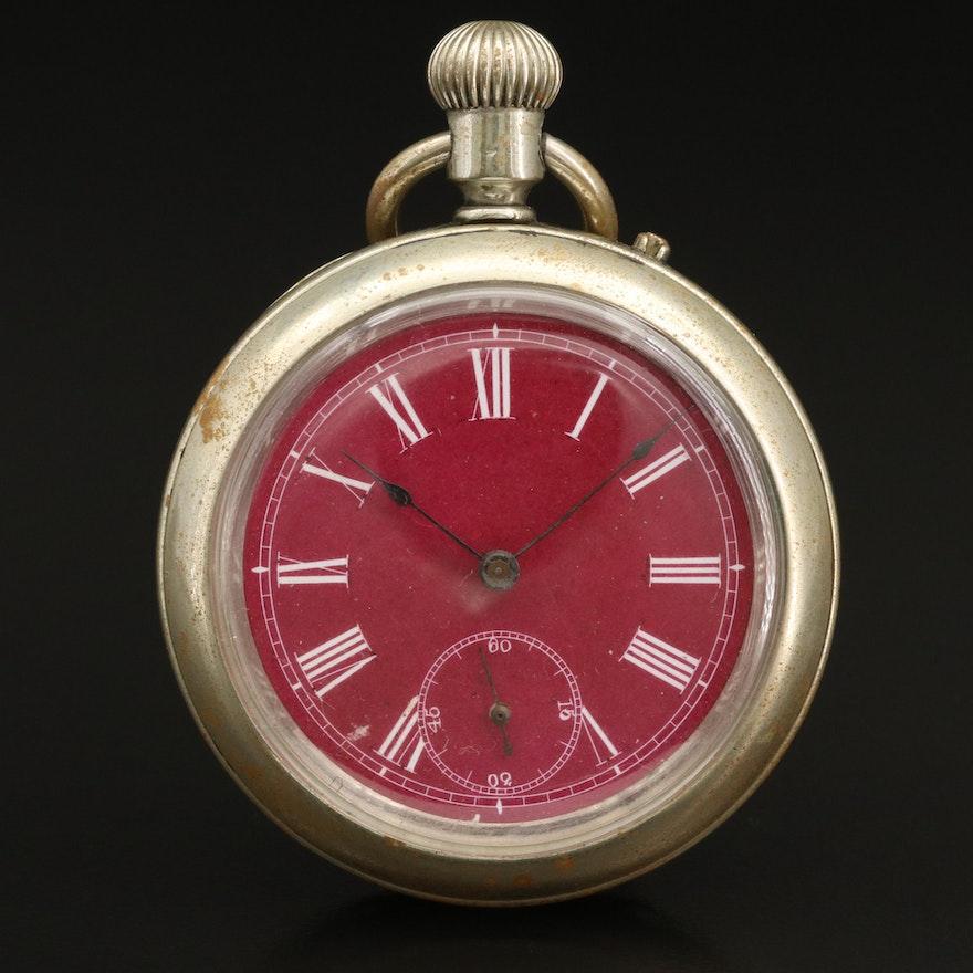 Longines Antique Open Face Pocket Watch