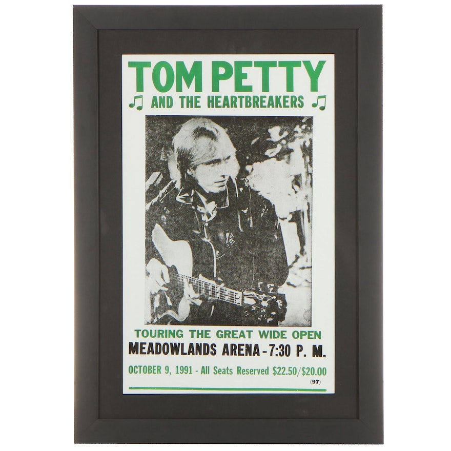 Giclée Concert Poster For Tom Petty And The Heartbreakers, 21st Century