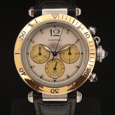 Cartier Pasha de Cartier Chronograph 18K and Stainless Steel Wristwatch