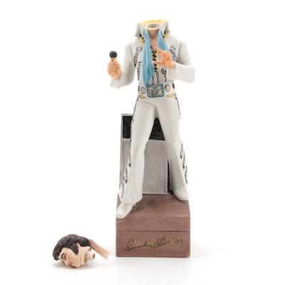 "Elvis Presley ""Sincerely '77"" McCormick Bourbon Ceramic Musical Decanter"