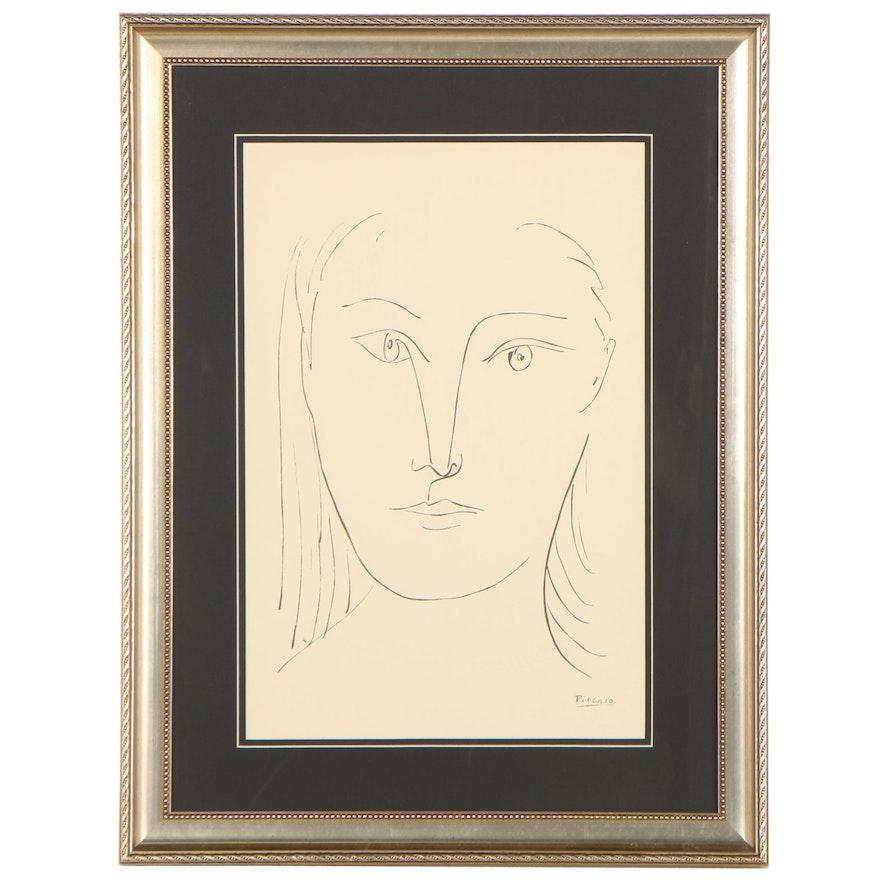 """Serigraph After Pablo Picasso """"Visage de Femme,"""" Late 20th Century"""