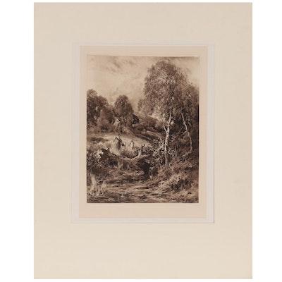 Landscape Aquatint After John Horace Hooper