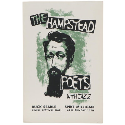 The Hampstead Poets Serigraph Advertisement Poster