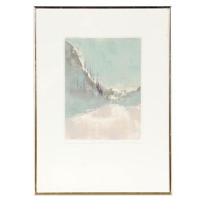 "Monoprint ""Shore Light XII,"" Late 20th Century"