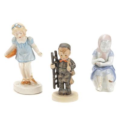 """Goebel """"Chimney Sweep"""" Hummel and Other Porcelain Figurines"""