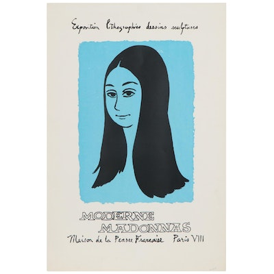 """French """"Moderne Madonnas"""" Serigraph Exhibition Poster"""