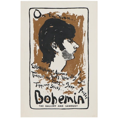 Bohemia the Gallery and Sawdust Serigraph Advertising Poster