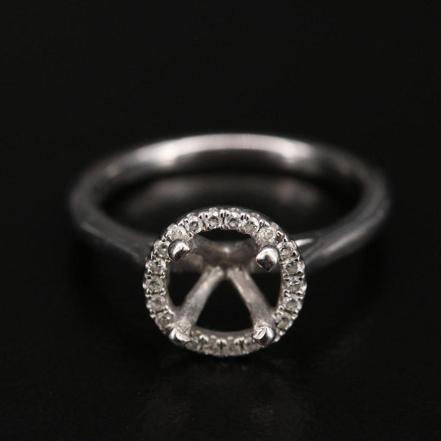 Blue Nile 14K Diamond Halo Semi-Mount Ring