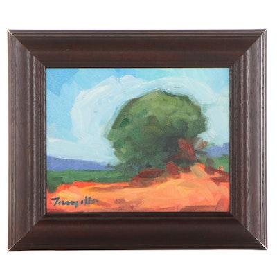 """Jose Trujillo Oil Painting """"Desert Light,"""" 2013"""