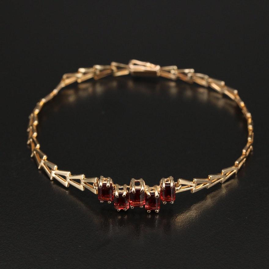14K Garnet Bracelet