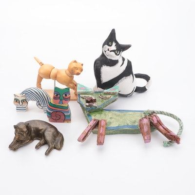 Folk Art and Other Cat Figurines