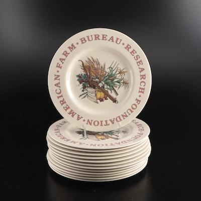 Tiffany & Co. American Farm Bureau Research Foundation Ceramic Dinner Plates