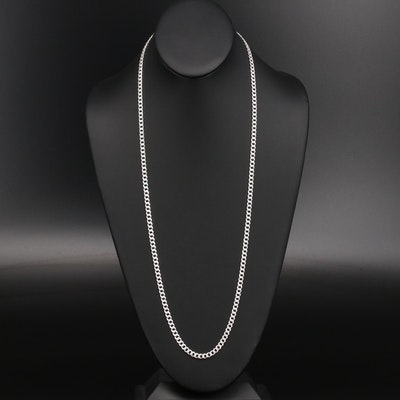 Italian Sterling Curb Chain Necklace