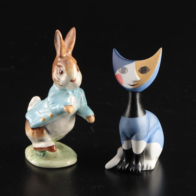 "Goebel ""Carlo"" and Beswick ""Peter Rabbit"" Ceramic Figurines"
