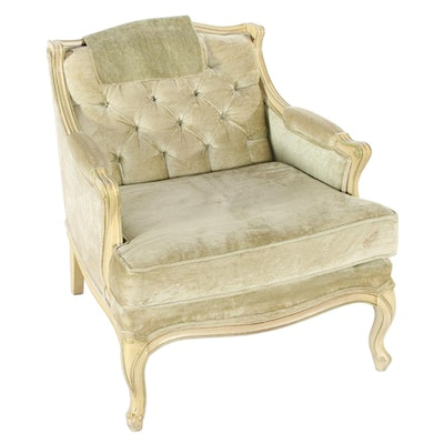 Broyhill Louis XV Style Painted Wood Lounge Chair, circa 1970
