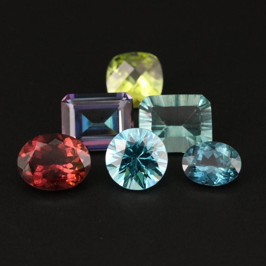 Loose 16.32 CTW Tourmaline, Peridot, Zircon and Additional Gemstones