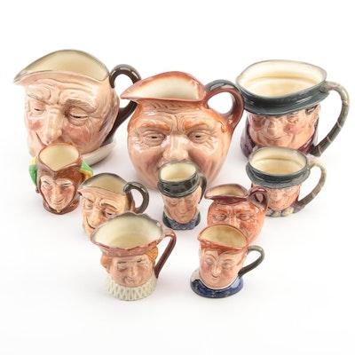 """Royal Doulton """"John Barleycorn"""" and Other Ceramic Character Mugs"""