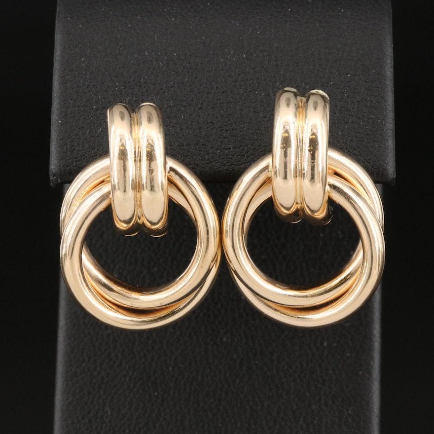 14K Knot Earrings