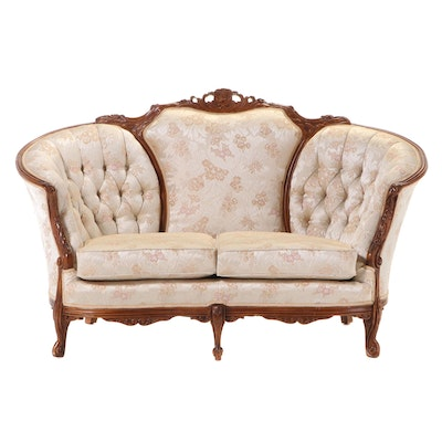 American Furniture Galleries Inc. Rococo Style Buttoned-Down Loveseat