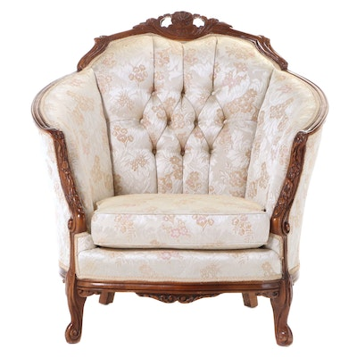 American Furniture Galleries Inc. Rococo Style Buttoned-Down Armchair
