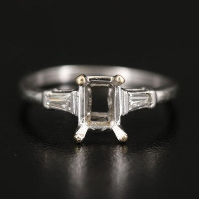 Platinum Semi-Mount Scrap Ring