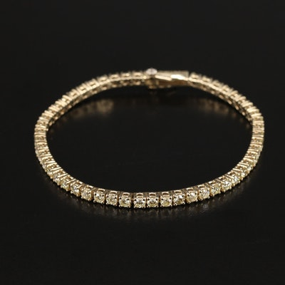 14K 4.53 CTW Diamond Tennis Bracelet