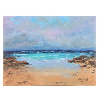 "James Baldoumas Oil Painting ""Incoming Weather,"" 2021"