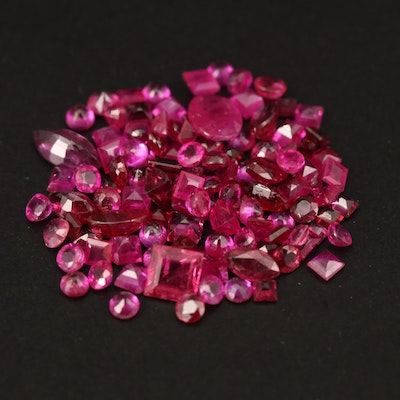 Loose 8.44 CTW Mixed Faceted Rubies