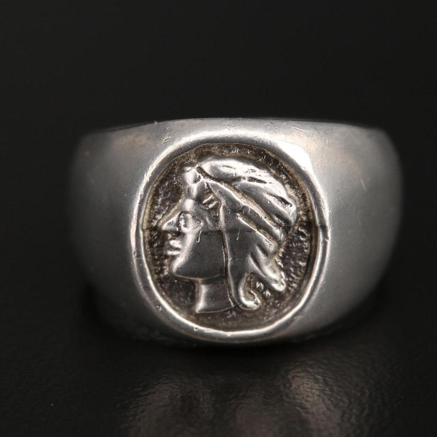 Sterling Portrait Ring