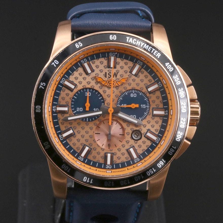 ISW Chronograph Rose Gold Tone Quartz Wristwatch