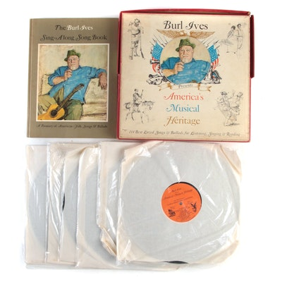 """Burl Ives """"America's Musical Heritage"""" Vinyl Record Box Set with Songbook"""