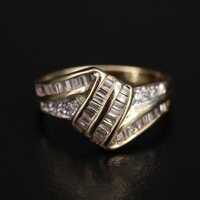 14K Diamond Ribbon Ring