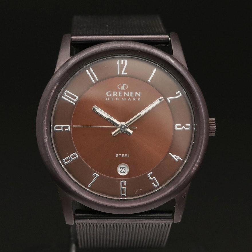 Grenen By Skagen Brown PVD and Stainless Steel Quartz Wristwatch