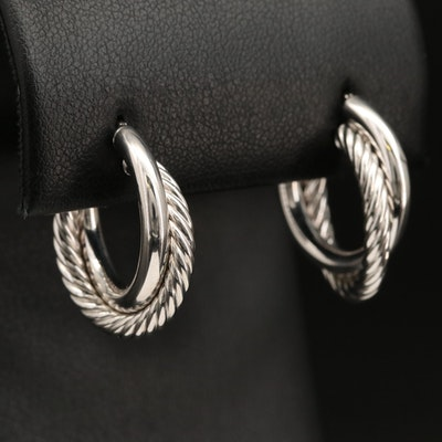 Italian 14K Double Hoop Earrings