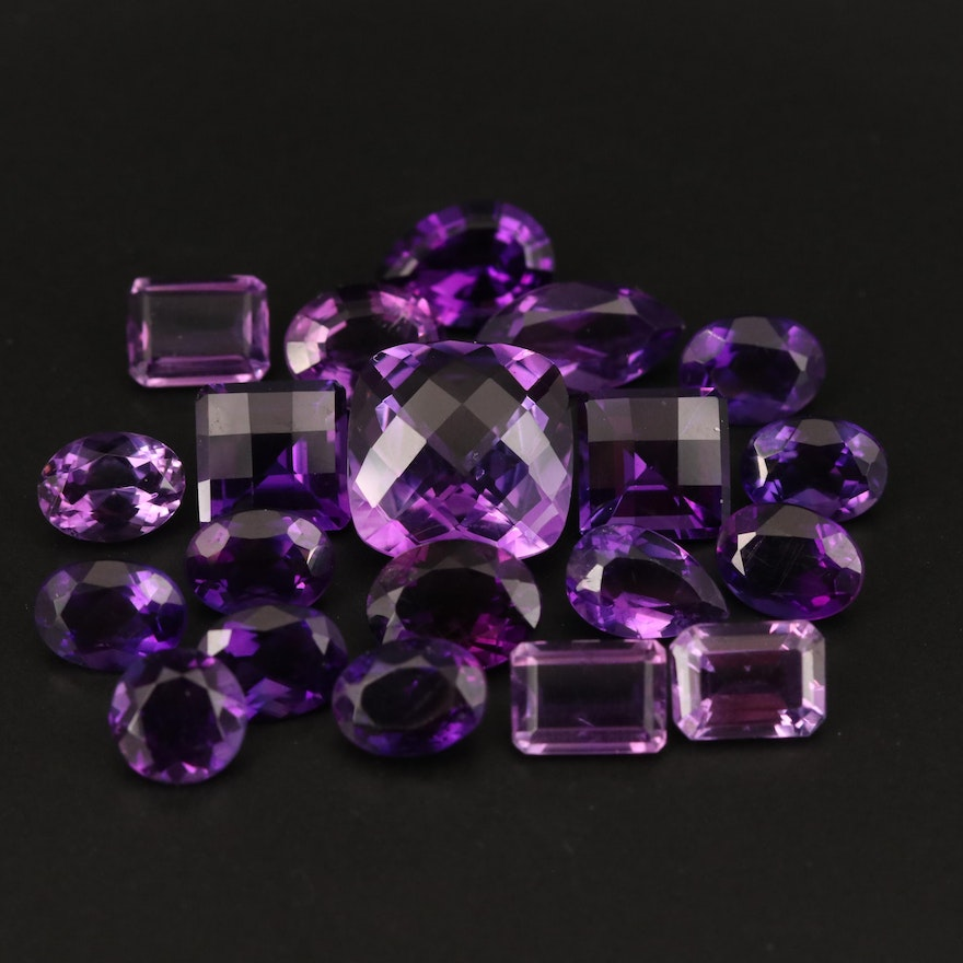 Loose 32.92 CTW Mixed Faceted Amethyst