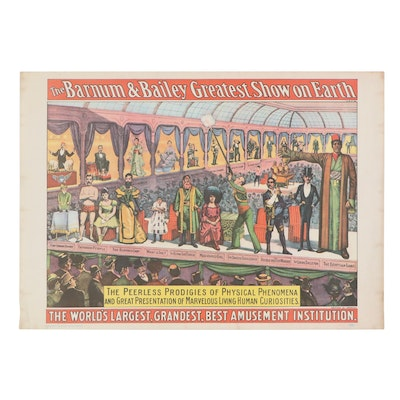 """Barnum & Bailey """"Greatest Show on Earth"""" Offset Lithograph Poster, Mid-20th C."""