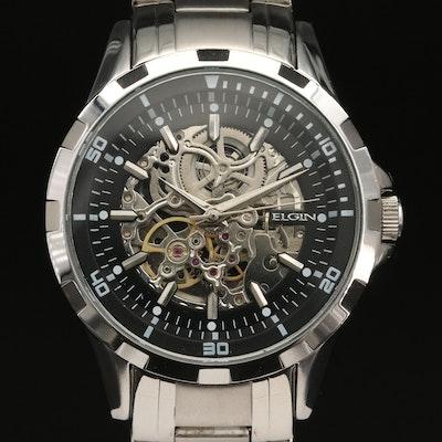 Elgin Skeleton Dial Automatic Wristwatch
