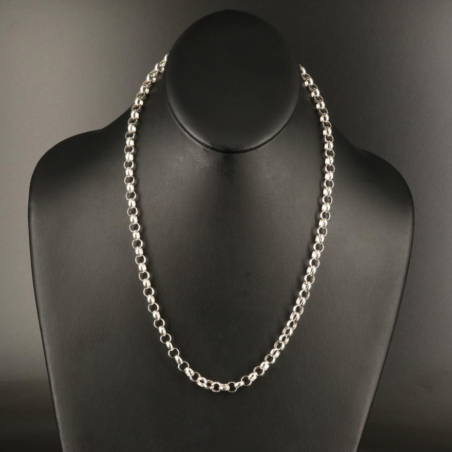 Italian Sterling Silver Cable Chain Necklace