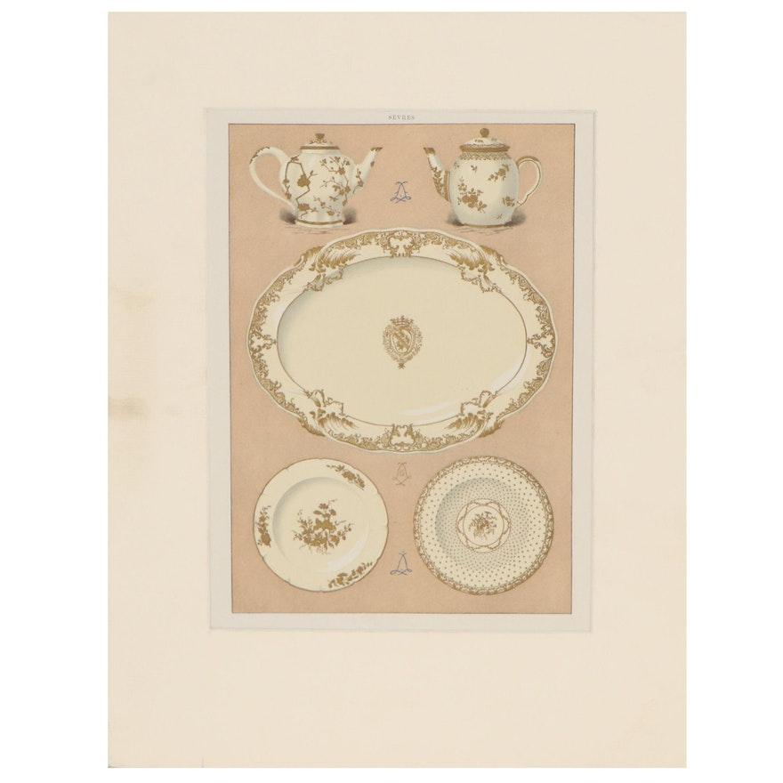 "Chromolithograph After Edouard Garnier ""The Soft Porcelain of Sèvres"""